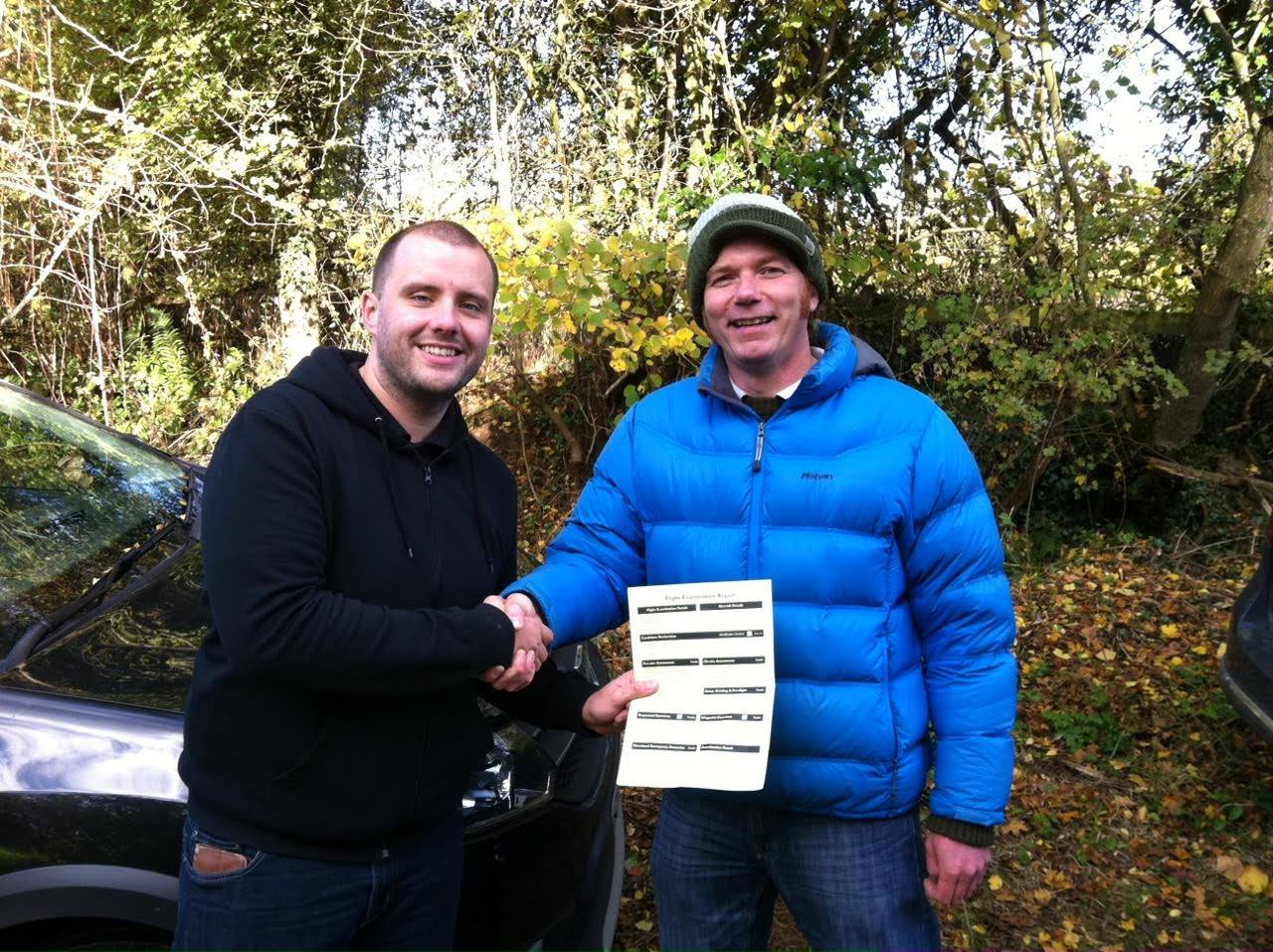 Successful Flight Operations Assessment with our Flight Examiner Rob Coles