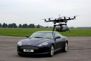 Drone with Aston Martin DB9